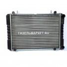 БИЗНЕС Радиатор охлаждения ГАЗ-3302 AL 2 рядн штыри